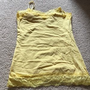 Easter yellow layering tank w/lace adjust strapsXS
